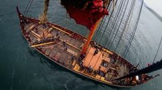 A crow's nest view of the Draken Harald Hårfarge. Visit page  View image