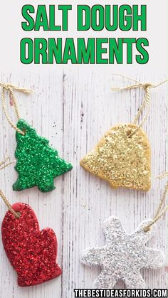 SALT DOUGH ORNAMENTS – these diy salt dough ornaments are so fun to make! These … SALT DOUGH ORNAMENTS – these diy salt dough ornaments are so fun to make! These make perfect Christmas gifts or even just to make to put up on your Christmas tree. Diy Christmas Ornaments, Homemade Christmas, Holiday Crafts, Kids Ornament, Christmas Carol, Toddler Christmas Crafts, Simple Christmas Crafts, Christmas Tree Decorations For Kids, Preschool Christmas Activities