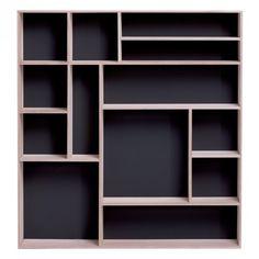 REIZO Wall Shelf (Black/Natural) | Bookcaese |JYSK Canada