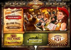 High Noon USA friendly Online Casino offers $60 free no deposit bonus + $2000 in free first deposit. High Noon is powered by RTG software & launched in 2010