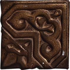 "Granada, Color: Hammered Bronze, 4X4"" Decorative Tile"