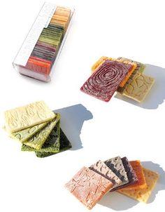 Légumier, nuancier de purées de légumes surgelées. Design Julie Rothhahn (2006)