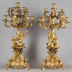 Leading antique dealer in Mayfair, London, established specialising in exceptional antique lighting, a pair of gilt-bronze candelabra for sale Vase Cristal, Bronze, Antique Lighting, Porcelain Vase, Oil Lamps, Vintage Home Decor, Decoration, Candlesticks, Antique Furniture