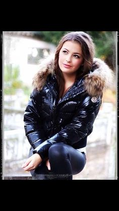 Good Girl, Puffy Jacket, Moncler, Trendy Fashion, Leather Pants, Sexy, How To Wear, Jackets, Nice
