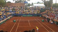 Falla vs Nishikori, partido numero 2 Copa Davis Colombia vs Japon
