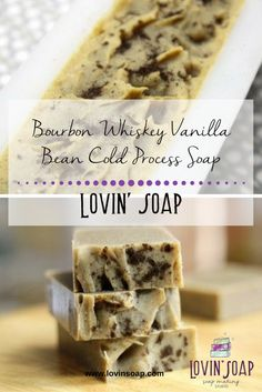 Bourbon Whiskey Vanilla Bean Cold Process Soap - Lovin Soap Studio