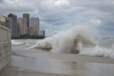 Waves in Chicago's Lake Michigan! Oct 2012 - Everything is big here.  Everything.