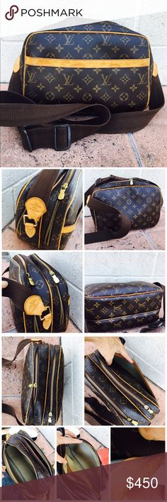 450$ LV reporter Gm Authentic 💚💯 good condition vintage smell need new owner ✅ no Dust/ no box/refur by the photo final sale /🙏🏼Welcome offer thank you Happy poshing 💜💚💚💚💚💚💜 Date code SP0053 Louis Vuitton Bags Crossbody Bags