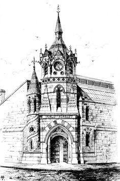 1869 - Design for Clock Tower & Market, Green St., Dublin - Architecture of Dublin City, Unbuilt Ireland - Archiseek.com
