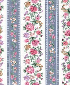 Cabbage Rose Fabric Dusty Blue Floral Fabric Screen by YacketUSA, $7.98