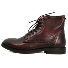 46a5d703bc8501 HUDSON BORDEAUX SMYTH LEATHER BOOTS Hudson Shoes