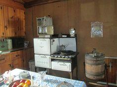 Inside a cabin at Lyme Village