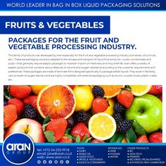 Vegetable Packaging, Edible Oil, Packaging Solutions, World Leaders, Fruits And Vegetables, Fruits And Veggies