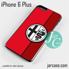 Red Alfa Romeo Logo Phone case for iPhone 6 Plus and other iPhone devices
