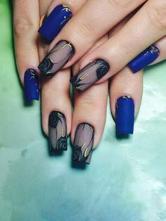 27 unique and beautiful nail art designs 16 Beautiful Nail Art, Gorgeous Nails, Pretty Nails, Colorful Nail Designs, Nail Art Designs, Nail Effects, Wedding Nails Design, Wedding Designs, Blue Nails
