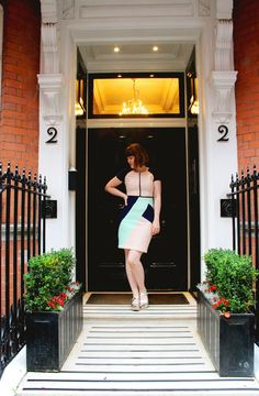 Tiger Lilly Quin blog wearing low peep toes in silver