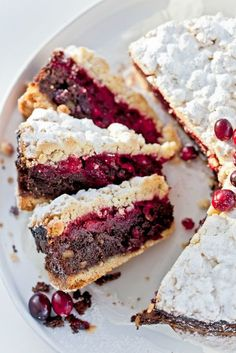 Przepis na ciasto makowe z kruszonką i żurawinami.