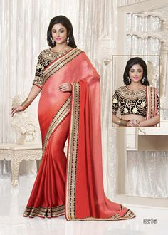 Buy Red Color Net Saree Online – Fashionic: Indian Ethnic Wear