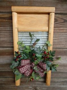 Cute(I have one of these old wash boards I never Use -Not any more)!!