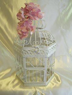 Birdcage White Shabby Chic / Decorative Birdcage / Home Decor. Via Etsy.