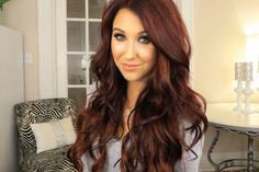 Dark Red Brown Hair Color Chocolate