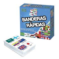 Juego de cartas Banderas rápidas | BRAINBOX | Juguete EurekaKids