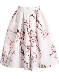 Shop White Floral Pleated Skirt online. SheIn offers White Floral Pleated Skirt & more to fit your fashionable needs.