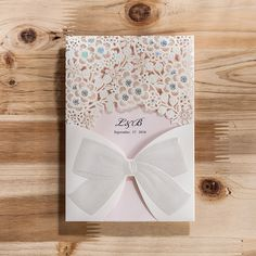 Laser Cut Wedding Invitation Cards Elegant Personality Paper Party Invitations Card Free Printable Bowknot Birthday Cards CW5186-in Event & Party Supplies from Home & Garden on Aliexpress.com | Alibaba Group
