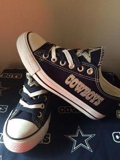 Dallas Cowboys women's Glitter tennis shoe's by sportshoequeen