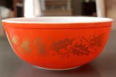 Pyrex Mixing bowl Christmas 1961 Promotion by BeggarsBanquet, $32.00