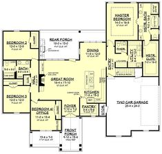 House Plan Zone offers pre-drawn and custom house plans. Our specialties include Acadian and French Country house plans that offer great curb appeal. French Country House Plans, French Country Bedrooms, Craftsman Style House Plans, French Cottage, Country Bathrooms, Best House Plans, Dream House Plans, House Floor Plans, Dream Houses
