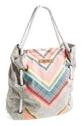 """Rip Curl """"Island"""" Canvas Beach Tote - Beachy, patterned canvas and nautical rope handles makes this carry-all tote perfect for a day in the sun."""