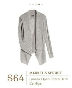 I like draped cardigans for layering. The soft details in this one is cute.