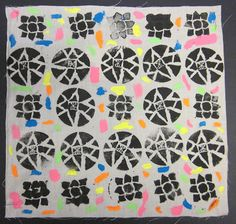 5th/6th Grade, African Adinkra symbol stamps