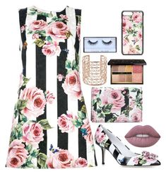 """""""Living The Striped Life"""" by juneisbest ❤ liked on Polyvore featuring Dolce&Gabbana, Lime Crime, Co.Ro and Guerlain"""