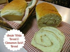 Best bread ever! You can make just plain white bread or cinnamon swirl bread.