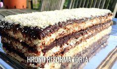 Hrono reforma(fil bez žumanaca, samo puter i čokolada) Gourmet Desserts, Low Carb Desserts, Gourmet Recipes, Sweet Recipes, Baking Recipes, Keto Recipes, Healthy Recipes, Bosnian Recipes, Bosnian Food