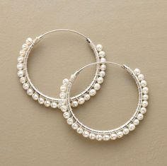 Pearl-wrapped hoops