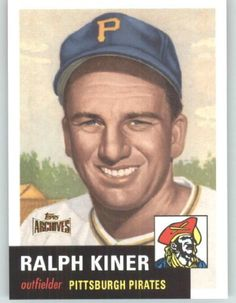 2012 Topps Archives Reprints #191 Ralph Kiner - Pittsburgh Pirates (Gold…