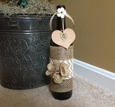 Rustic Live Laugh Love UPcycled Wine Bottle