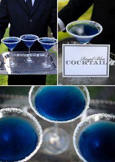 How To Make a Dazzling Blue Martini / Royal Blue Martini Recipe / McCune Photography via StyleUnveiled.com