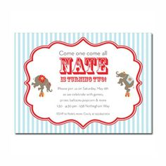 Rutherford Papers - Circus Elephants Invitation | RutherfordPapers.com