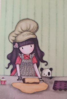 Cute Dragon Drawing, Cute Girl Drawing, Doll Drawing, Manga Drawing, Pretty And Cute, Pretty Art, Scrapbook Paper, Scrapbooking, Santoro London