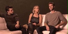 Josh Hutcherson, Jennifer Lawrence and Liam Hemsworth on exploring their characters in The Hunger Games franchise Hunger Games Cast, Katniss And Peeta, Josh Hutcherson, Liam Hemsworth, Mockingjay, Staying Alive, Jennifer Lawrence, Tv Shows, It Cast