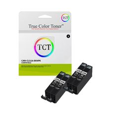 TCT Compatible Ink Cartridge Replacement for Canon Black Works with Canon Pixma Printers Pages) - 4 Pack Ink Cartridges, Toner Cartridge, Printers, True Colors, Oem, Canon, It Works, Packing, Bag Packaging