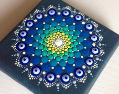 My latest canvas mandala painting 15x15cm ;) This time with pink colours