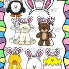 Happy Easter! This 14 piece clipart bundle features a variety of Easter graphics! The bundle includes imposter Easter Bunny animals (penguin, duck,...