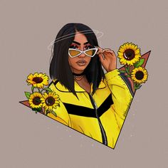 Ideas for fashion girl drawing paintings Dope Cartoon Art, Black Girl Cartoon, Cartoon Kunst, Black Love Art, Black Girl Art, Dope Kunst, Illustration Inspiration, Black Art Pictures, Girly Drawings