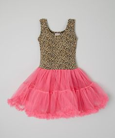 Look at this Hot Pink & Leopard Tutu Dress - Infant, Toddler & Girls on #zulily today!