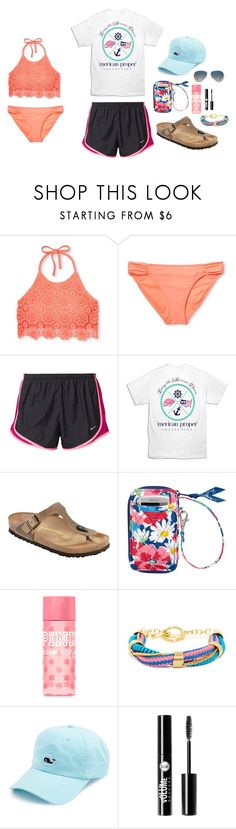 """Untitled #57"" by theobaldsophie ❤ liked on Polyvore featuring Xhilaration, NIKE, Birkenstock, Vera Bradley, Victoria's Secret PINK, BaubleBar, Vineyard Vines, Charlotte Russe and Ray-Ban"